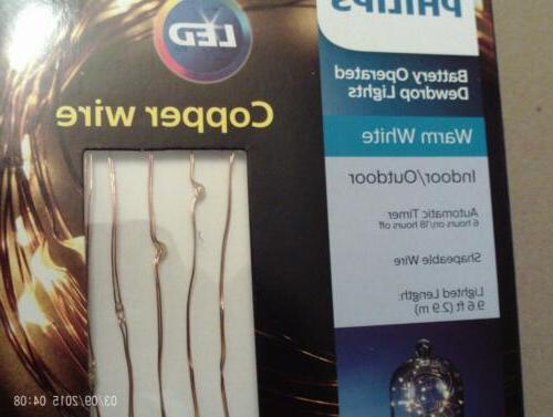 3 Philips Battery Operated Dewdrop LED Wire