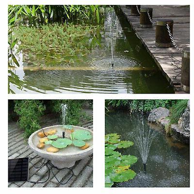 Solar Power Fountain Water Panel