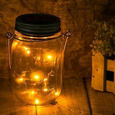 3-Pack Solar Jar Fairy String Lights Garden Decor