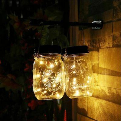 3-Pack Solar Powered Jar Fairy String Lights Garden Decor