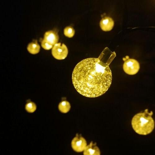 30 LED Solar Lights Patio Party Garden Waterproof