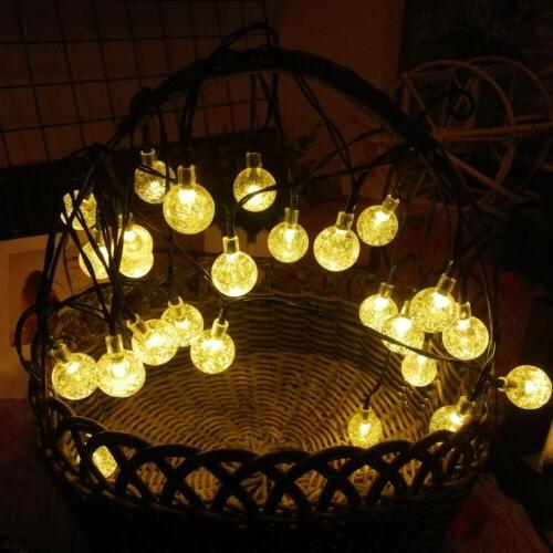 30 led solar string lights patio party