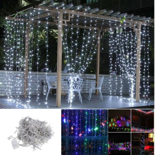 300/600 LEDs Fairy String Curtain Light Indoor Outdoor for P
