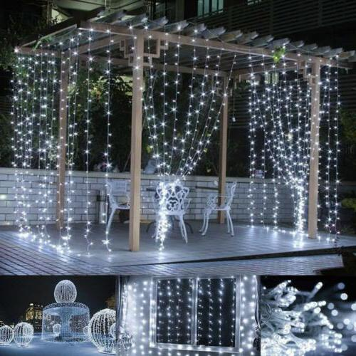 300 3*3M Curtain Lights Icicle for Wedding Party Decor