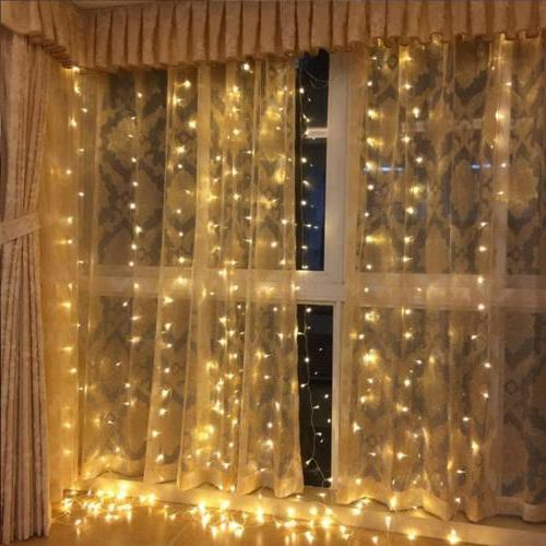 300 Curtain String Lights for Decor