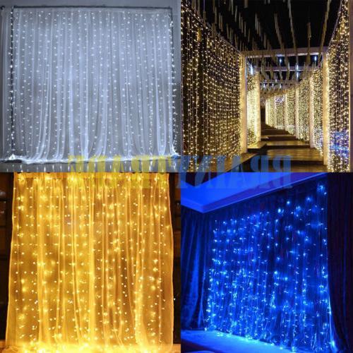 300 led 3m fairy curtain string lights