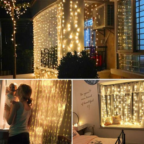 300 LED Lights String USB Waterproof Twinkle Wall