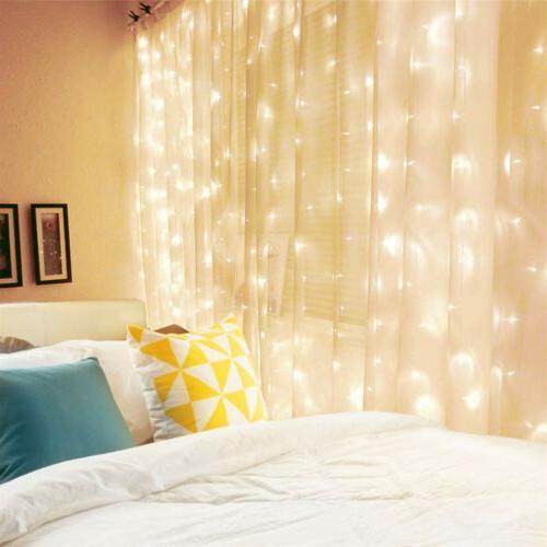 300 LED Curtain String 3m*3m Waterproof Wall Lights