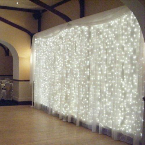 300 LED Curtain Light String Fairy Wedding Lights Indoor Out