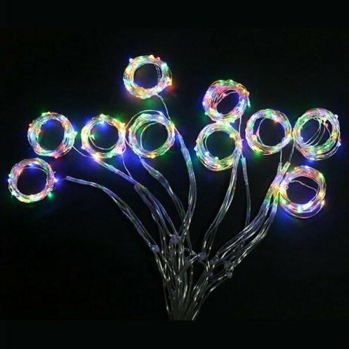 300 Fairy Hanging Curtain Xmas Lights Remote