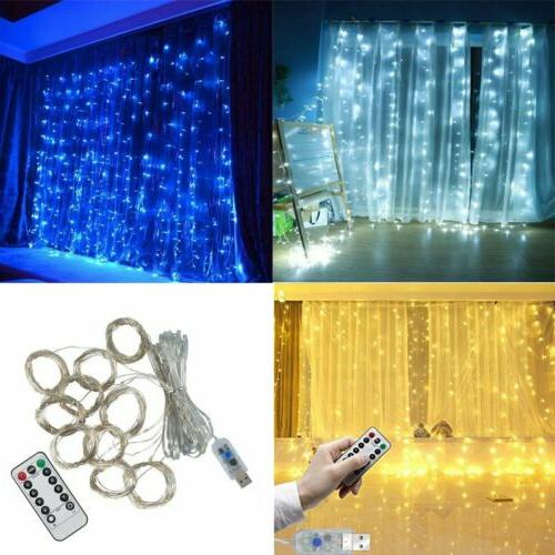 300 led fairy string hanging curtain light