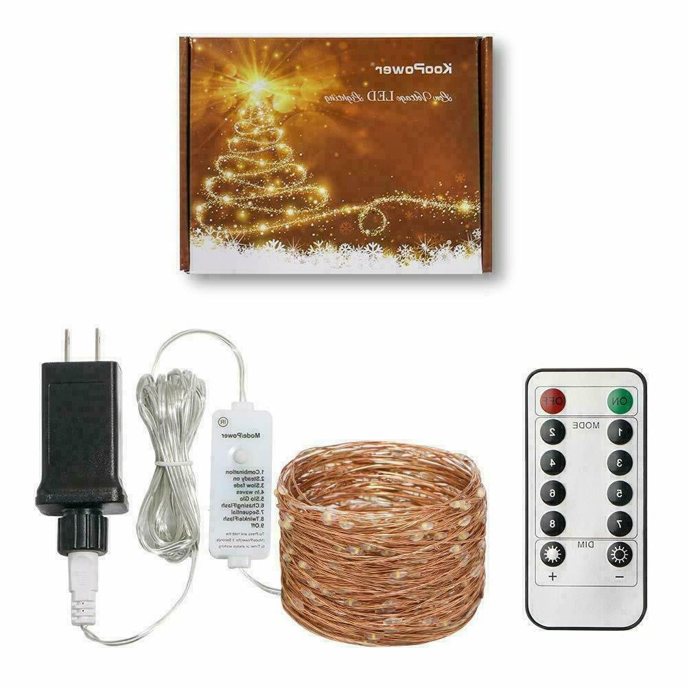300 String Lights Plug in Dim Powered 98 Ft USA