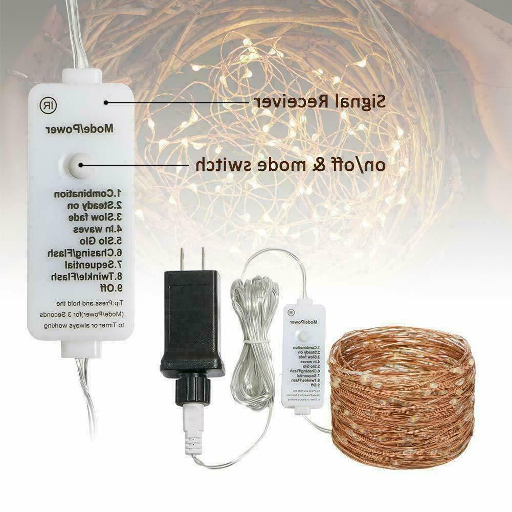 300 LED String Lights Wire Plug in Powered Waterproof 98 Ft