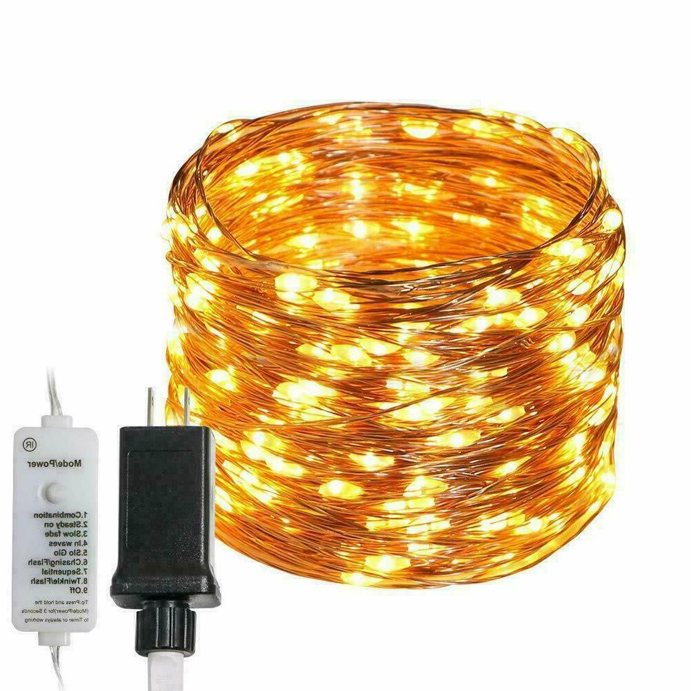 300 led string fairy lights copper wire