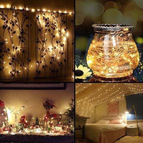 99 300 Copper Wire Dimmable Remote Decobree Lights UL Wedding Bedroom Warm White