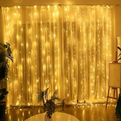 300LED Curtain Fairy Hanging String Lights Home Wedding Part