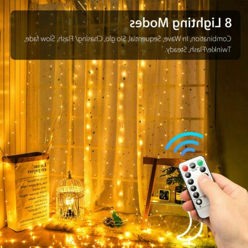 300LED/10ft Curtain String Party
