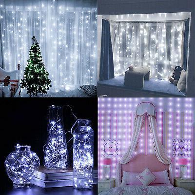 300LED Curtain Fairy Light Home