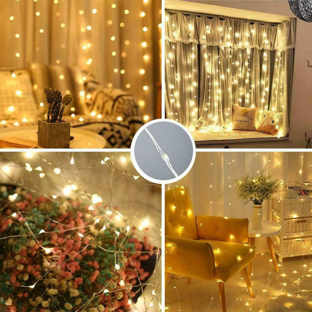 300LED Party Wedding Curtain Fairy Lights Light