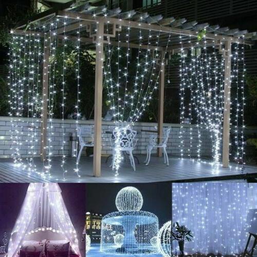 300LED Party Wedding Curtain Fairy Lights String Light