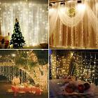 304 LED Fairy Curtain String Lights Wedding Party Room Decor