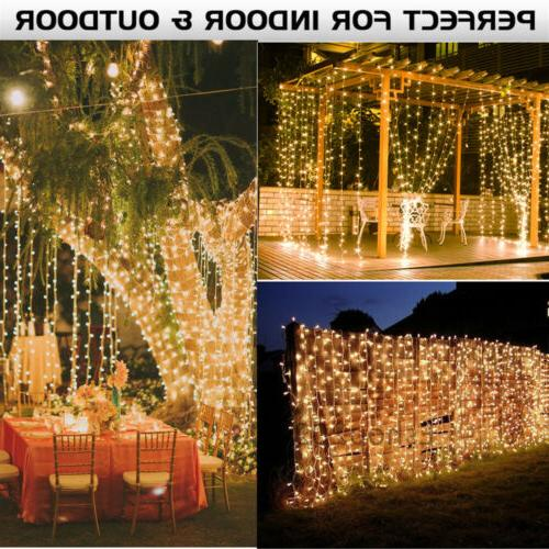 9..8FT 304 LED Fairy Curtain String Lights Wedding Party Roo
