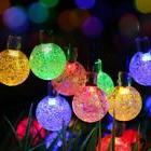 T-SUN 25ft 30LEDs Outdoor Solar String Lights, Colorful Sola