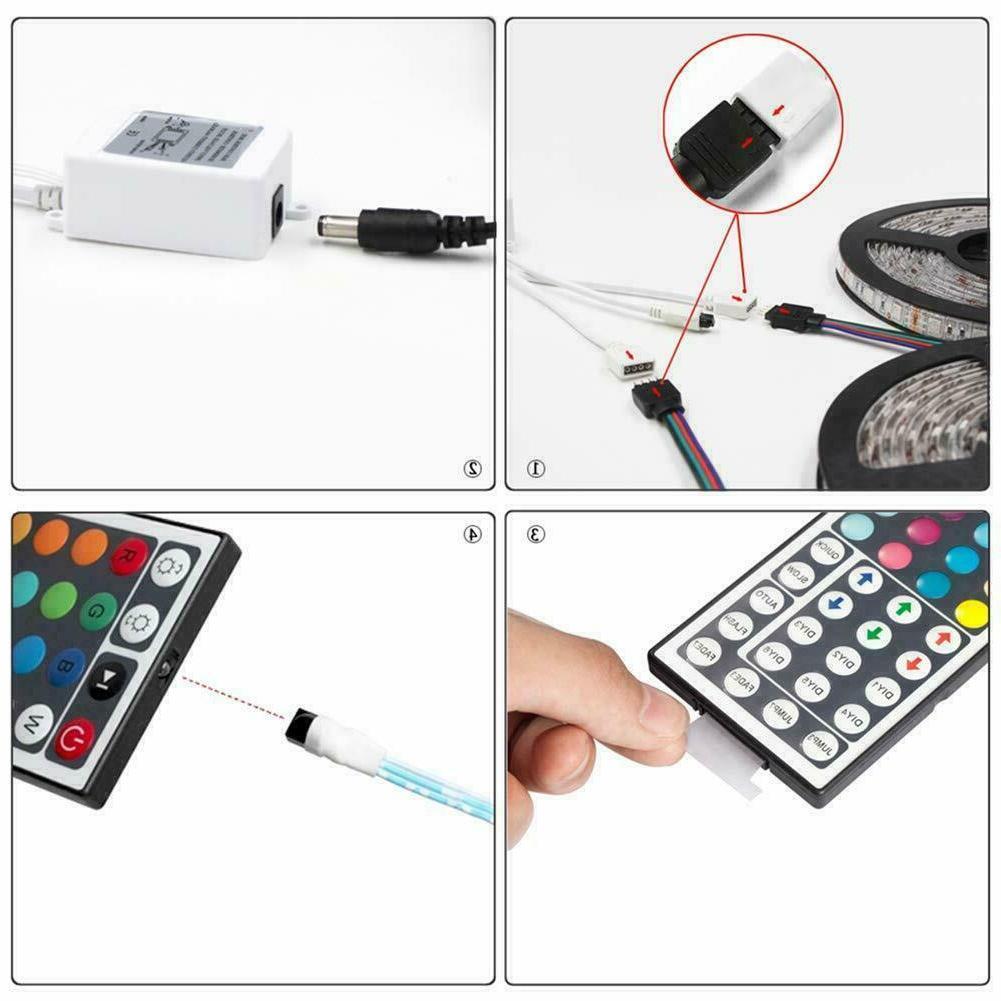 32.8 Feet RGB LED Strip Light 44 Key Remote DC