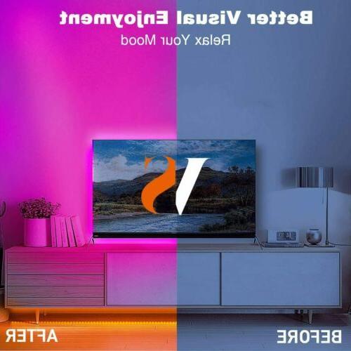32FT Flexible RGB LED SMD Strip Remote Lights TV Bar