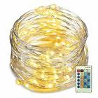 33ft 100 LED String Lights Dimmable with Remote Control, Wat