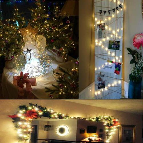 16x String Lights Copper Wire Lights Battery Operated