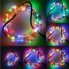 33Ft 100LED RGB Copper Starry Wire LED String Lights Fairy P