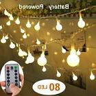 Yesee 33FT 80 LED String Lights Battery Powered with Remote,