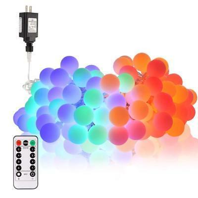 39ft 100 led globe string lights battery