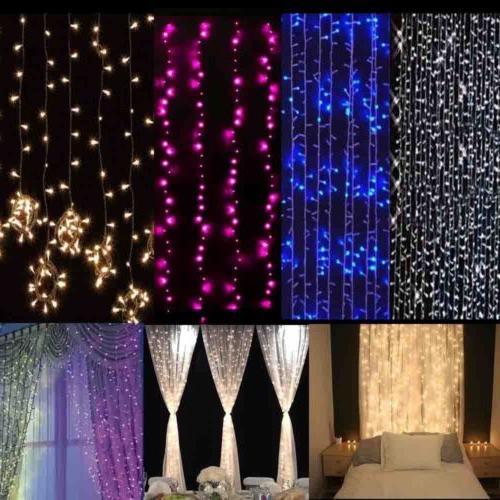 3M/6M LED Window Curtain Lights Wedding Decor