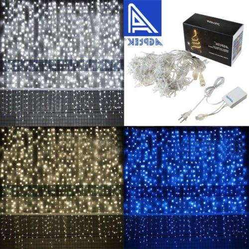 3M/6M 300/600 LED Window Curtain Icicle String Fairy Lights
