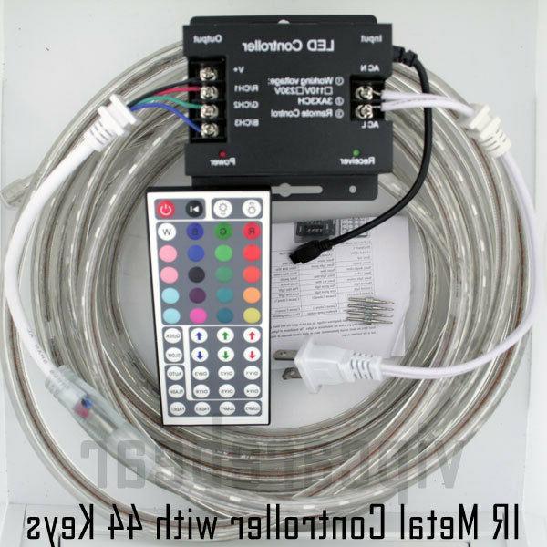 3ft-100ft 5050 RGB Strip Rope Light IP68+ Remote