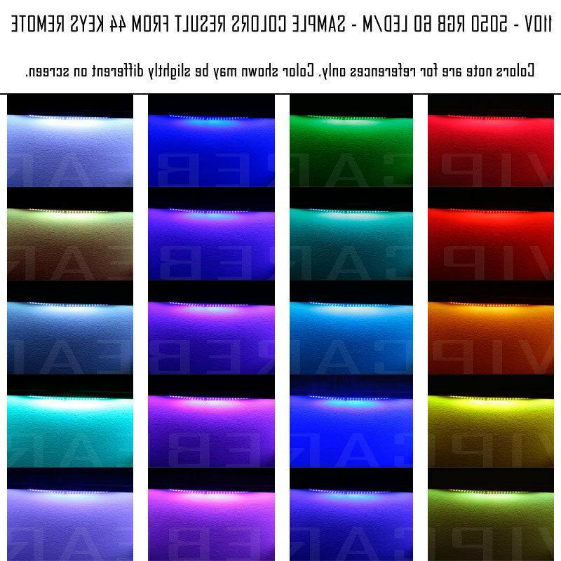 3ft-100ft Voltage 5050 Strip Rope Light IP68+ Remote