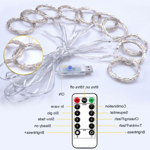 3M Waterproof USB Curtain With Remote Control