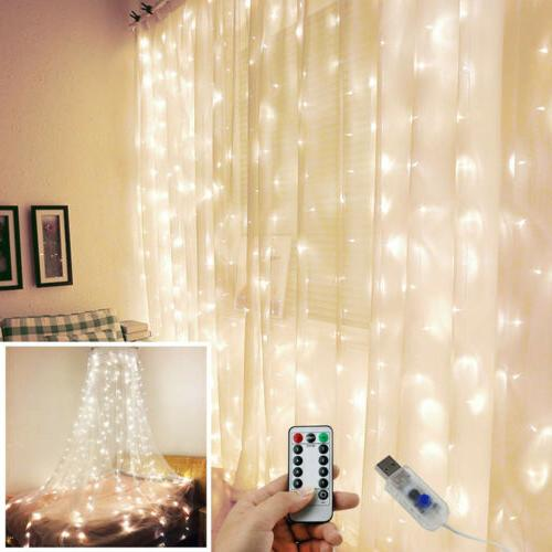Waterproof USB LED Curtain Remote Control