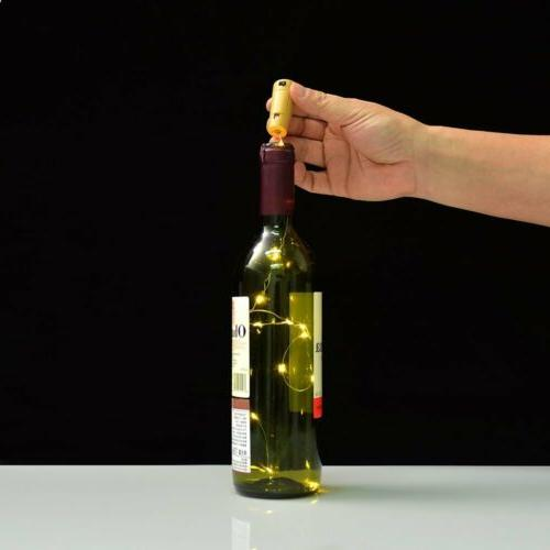 3pcs Wine Bottle Lights Led Light Strips Rope Kit DIY for