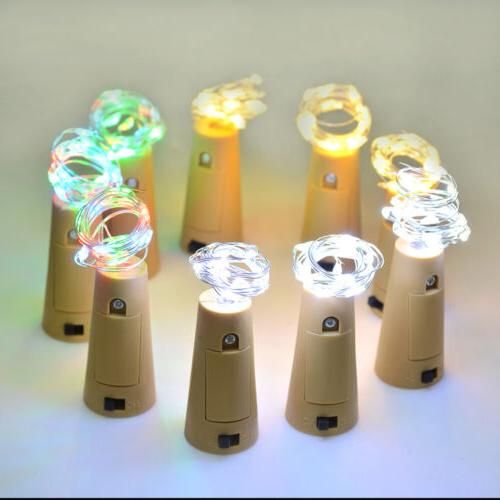 3pcs Wine Bottle Lights Copper Strips Rope DIY