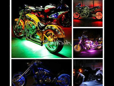 Addmotor 4/8/12-Inch Light Strips Motorcycle Multi-color