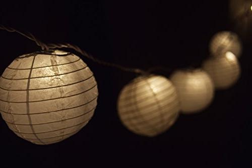 10 Socket White Paper Lantern Lights