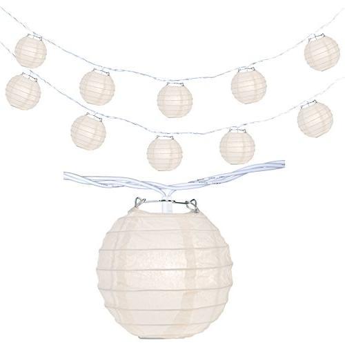 10 White Paper Lantern Lights