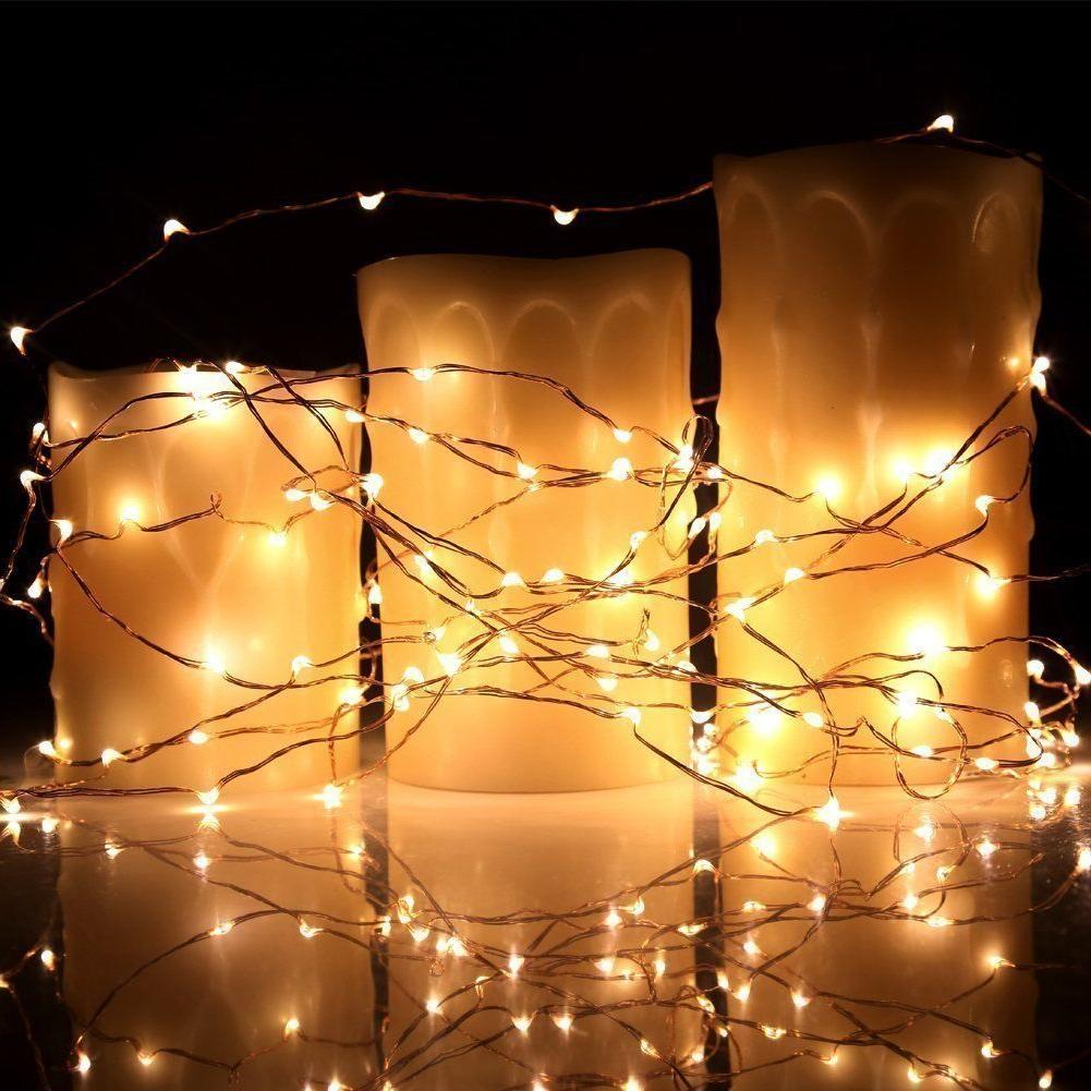 40 Feet Starry Lights LED's a Flexible Copper Wire
