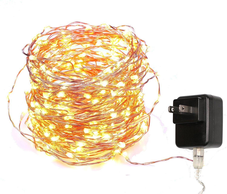 40 feet starry string lights warm white