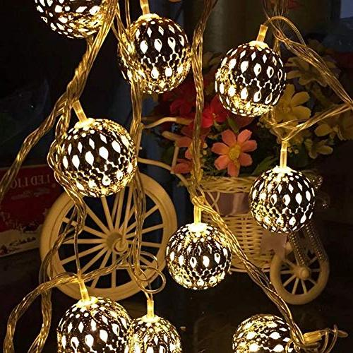 Twinkle 13.5 ft 40 Globe Lights, Hanging Lights Decor for Indoor, Bedroom, Party, Tree