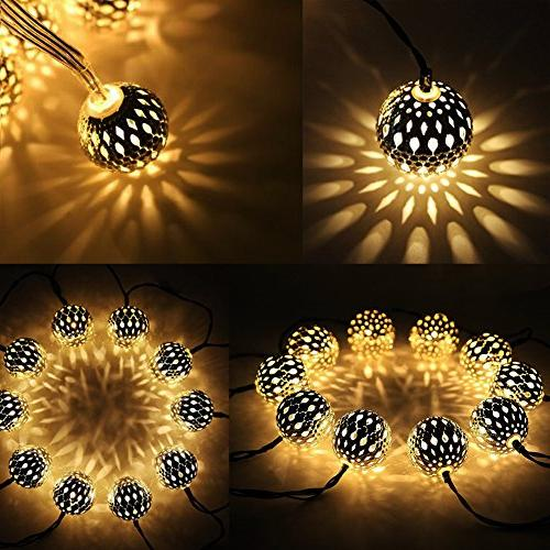 40 globe string lights