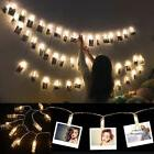 40 LED Photo Clip String Lights Battery Operated for Bedroom